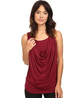 Christin Michaels - Freida Sleeveless Cowl Neck Top with Built-In Camisole