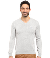 Lacoste - Segment 1 Cotton Jersey V-Neck Sweater