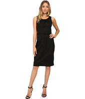 Christin Michaels - Merla Sleeveless Pleated Ponte Dress