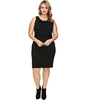 Christin Michaels - Plus Size Merla Sleeveless Pleated Ponte Dress