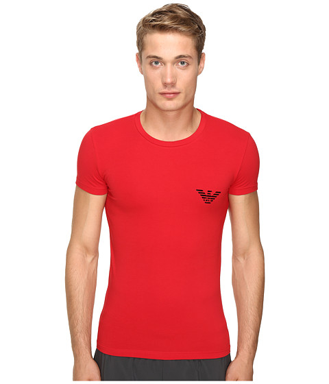 Emporio Armani Xmas-Mirror Effect Eagle T-Shirt - Red