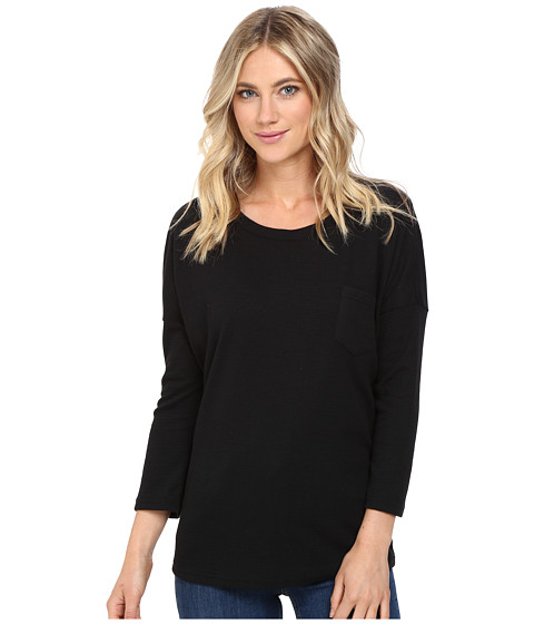 Culture Phit Alana 3/4 Sleeve Waffle Top with Pocket