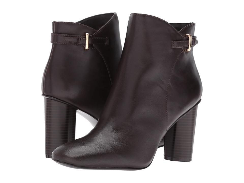 Nine West Vaberta (Dark Brown Leather) Women