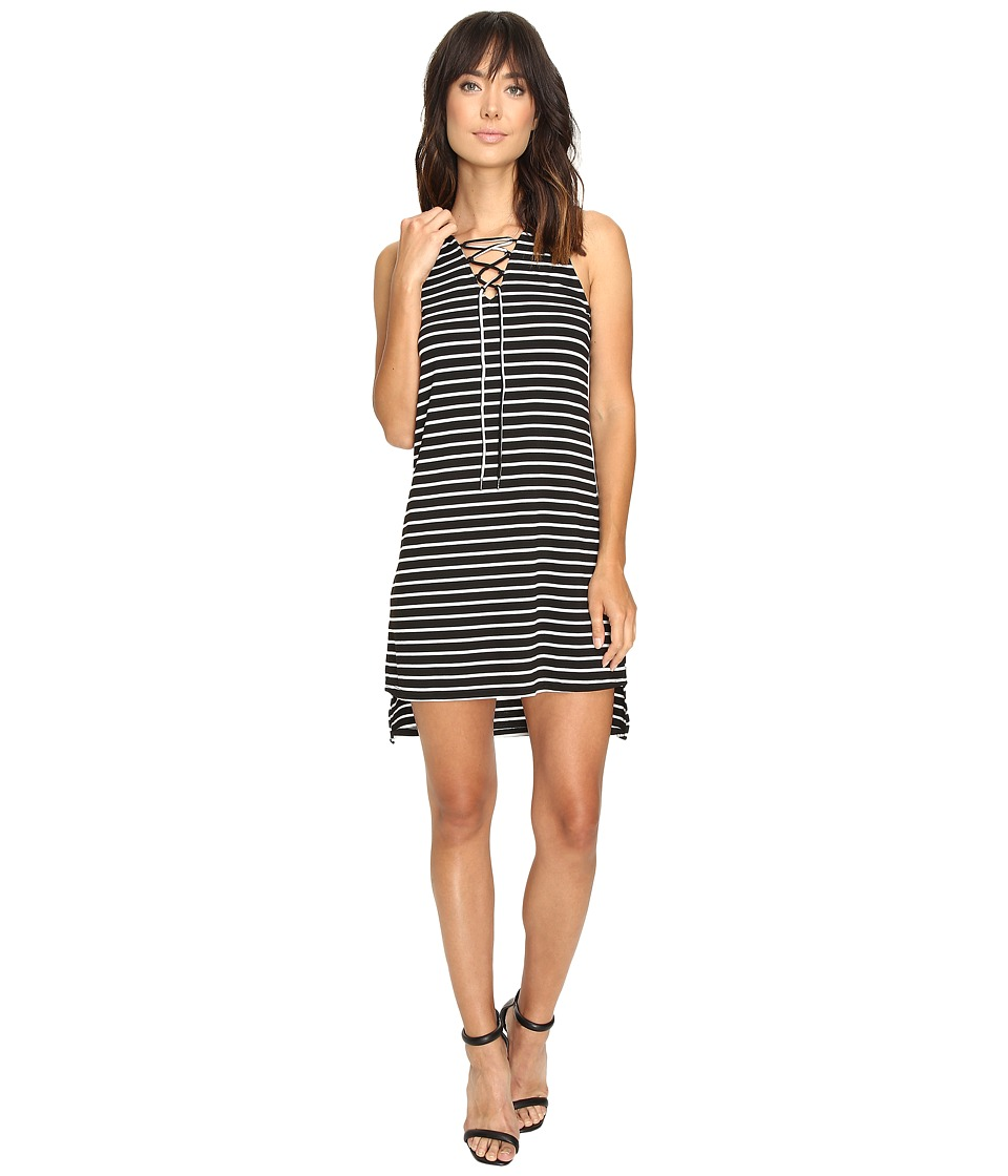 Culture Phit Jael Sleeveless Lace-Up Dress (Black/White) Women