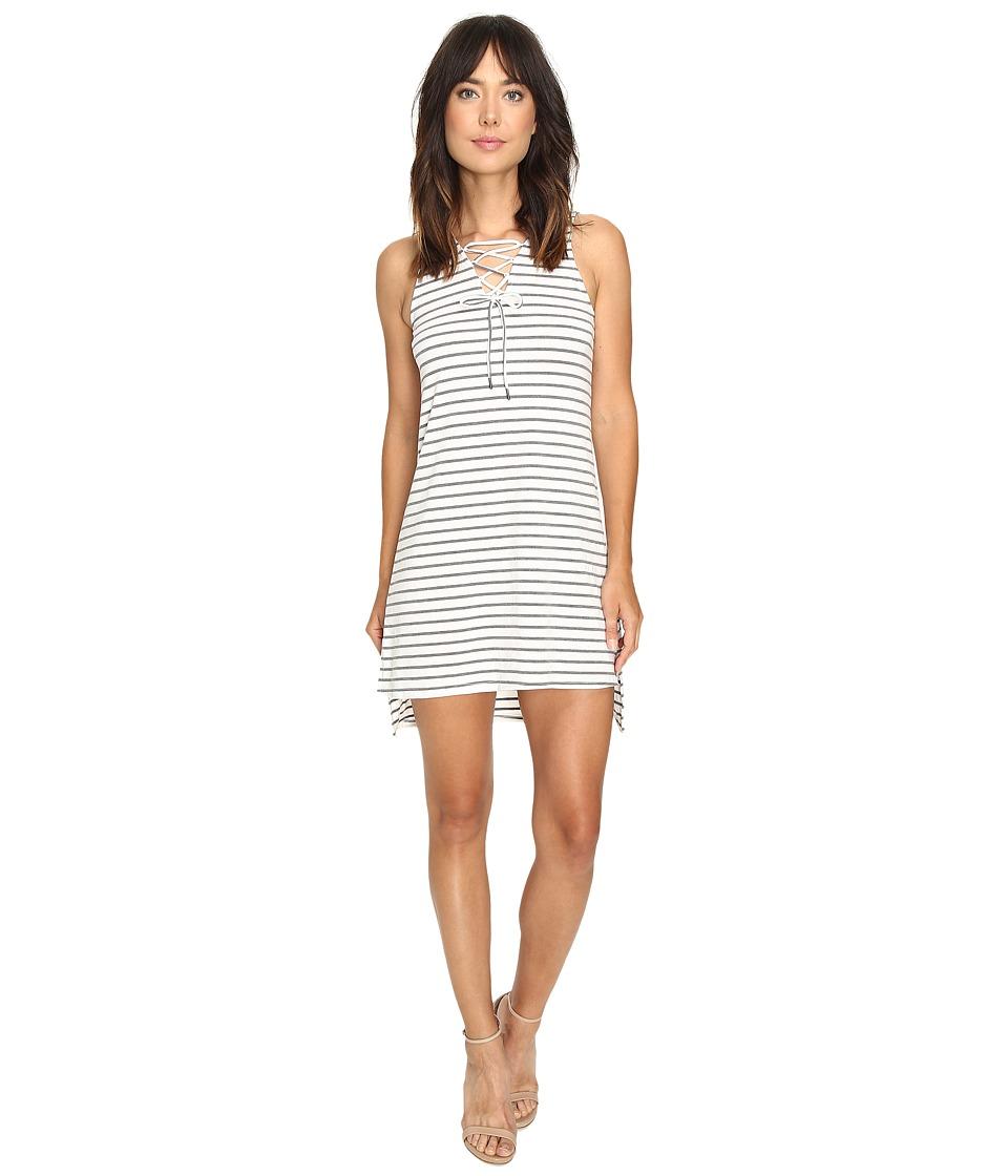 Culture Phit Jael Sleeveless Lace-Up Dress (White/Grey) Women