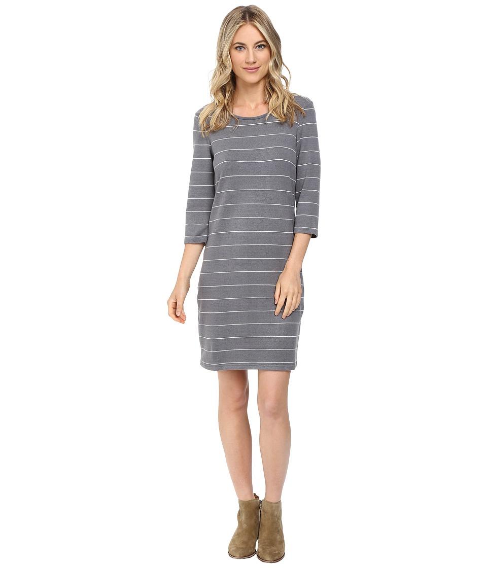 Culture Phit Ainsley Round Neck Sweater Dress (Grey/White) Women
