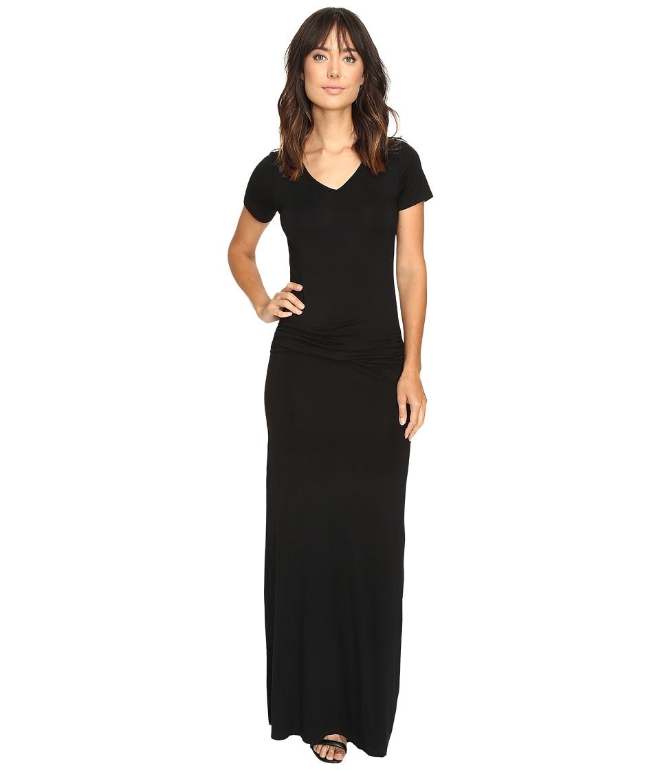 Culture Phit Carlia Short Sleeve Gathered Maxi Dress (Black) Women
