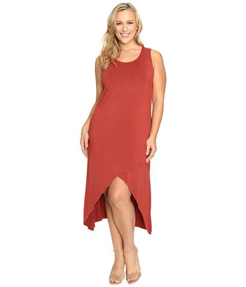 Culture Phit - Plus Size Flynne Sleeveless Cross-Bottom Dress (Potter's Clay) Women's Dress