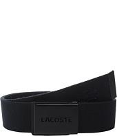 Lacoste - Embossed Logo Textile Belt
