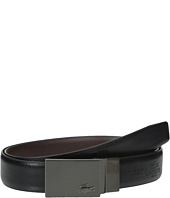 Lacoste - Classic Brushed Nickel Plaque Belt