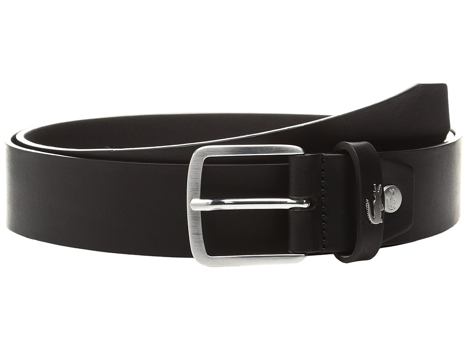 Lacoste 35mm Belt Raw Edges (Black) Men
