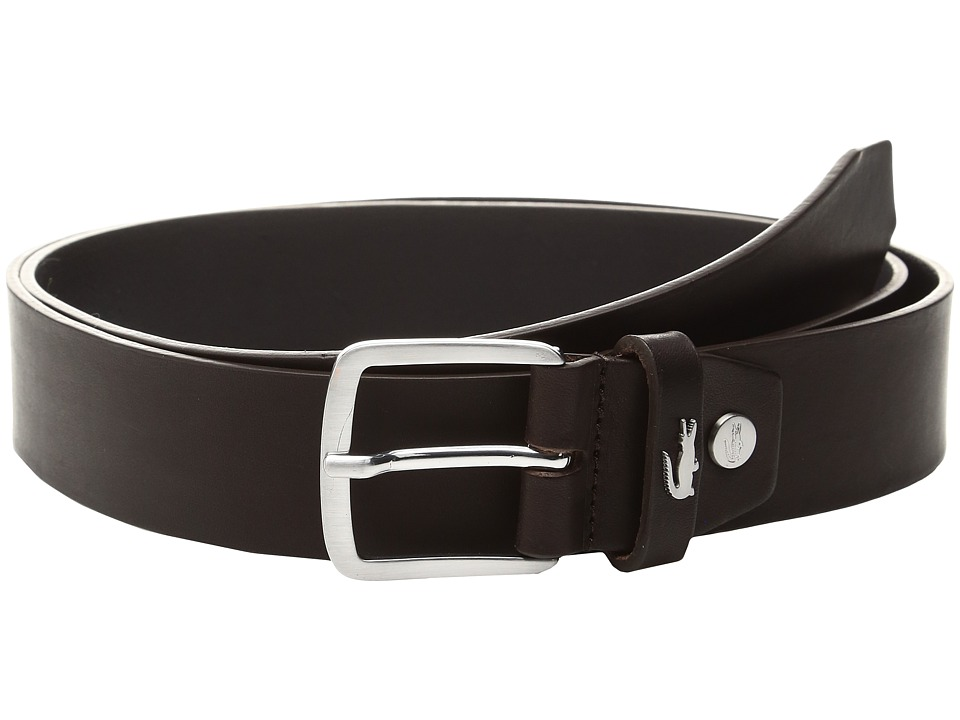 Lacoste 35mm Belt Raw Edges (Brown) Men