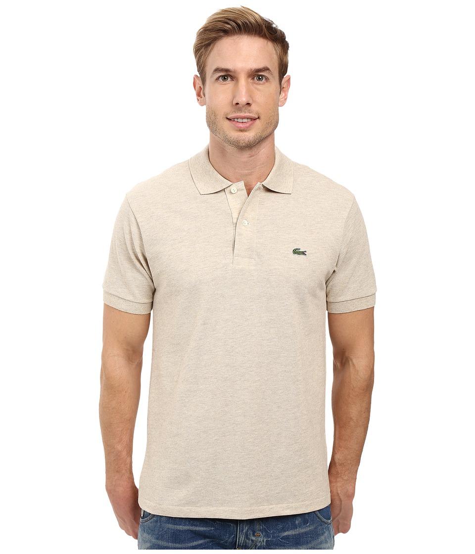 Lacoste - Short Sleeve Original Heathered Pique Polo (Oats Chine) Men