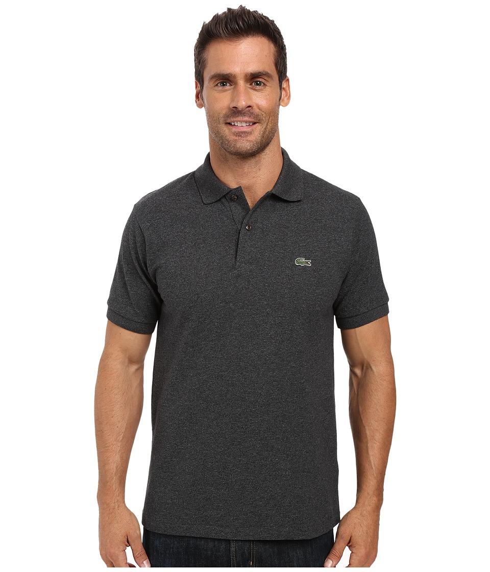 Lacoste - Short Sleeve Original Heathered Pique Polo (Dark Grey Jaspe Chine) Men