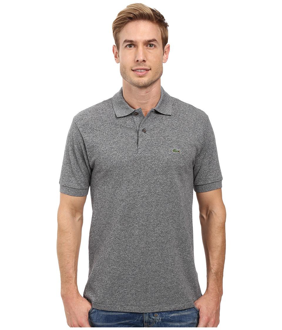 Lacoste - Short Sleeve Original Heathered Pique Polo (Navy Blue Mouline) Men