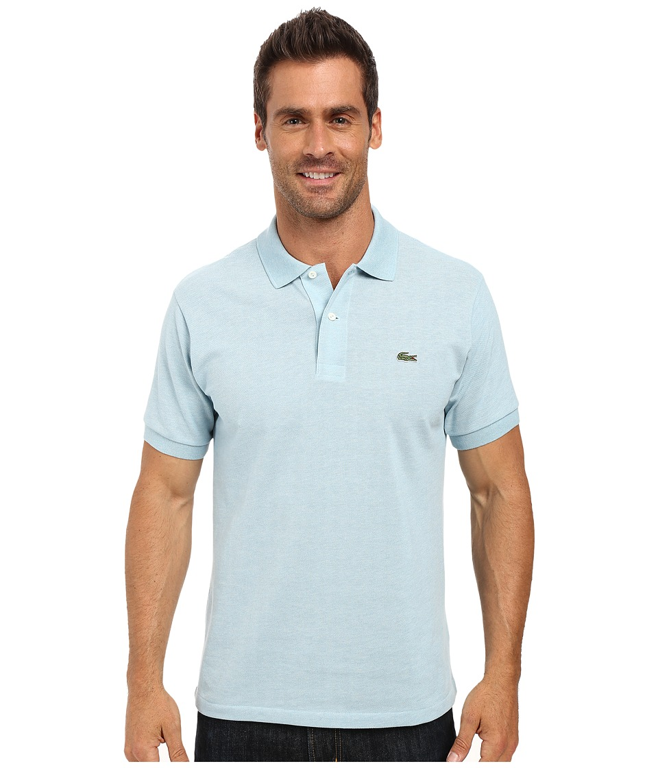 Lacoste - Short Sleeve Original Heathered Pique Polo (Jungle Chine) Men