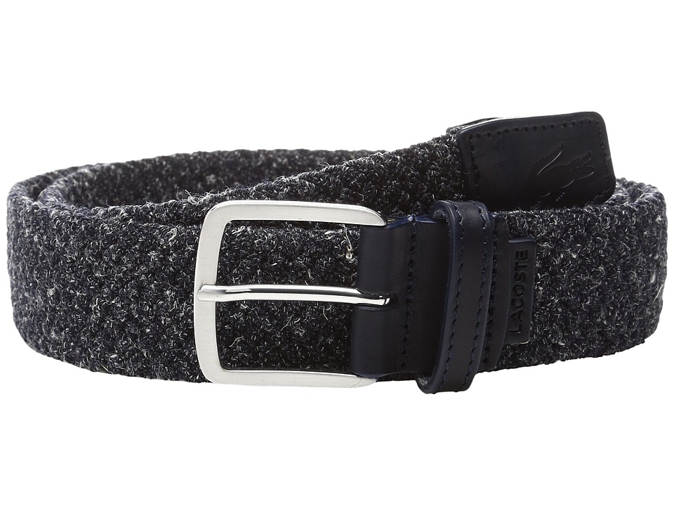 Lacoste 35mm Belt Woven (Mottled Navy) Men