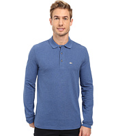 Lacoste - Long Sleeve Stretch Grey Croc Pique Polo