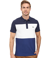 Lacoste - Short Sleeve Color Block Textured Pique Polo