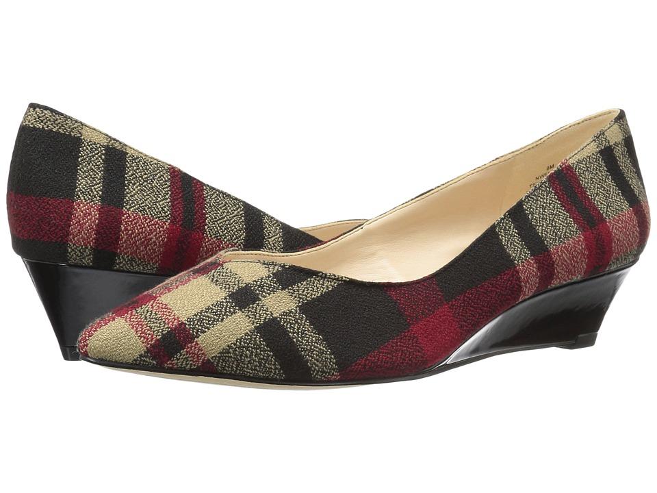 Nine West - Elenta (Black Multi) Womens Wedge Shoes