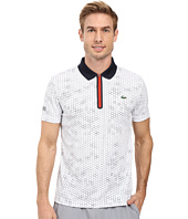 Lacoste - T1 Short Sleeve Printed Ultra Dry w/ Zipper Placket