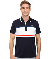 Lacoste - Sport Short Sleeve Ultra Dry Chest Stripe