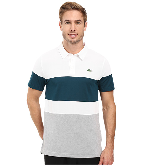 Lacoste Golf Short Sleeve Color Block Pique Ultra Dry