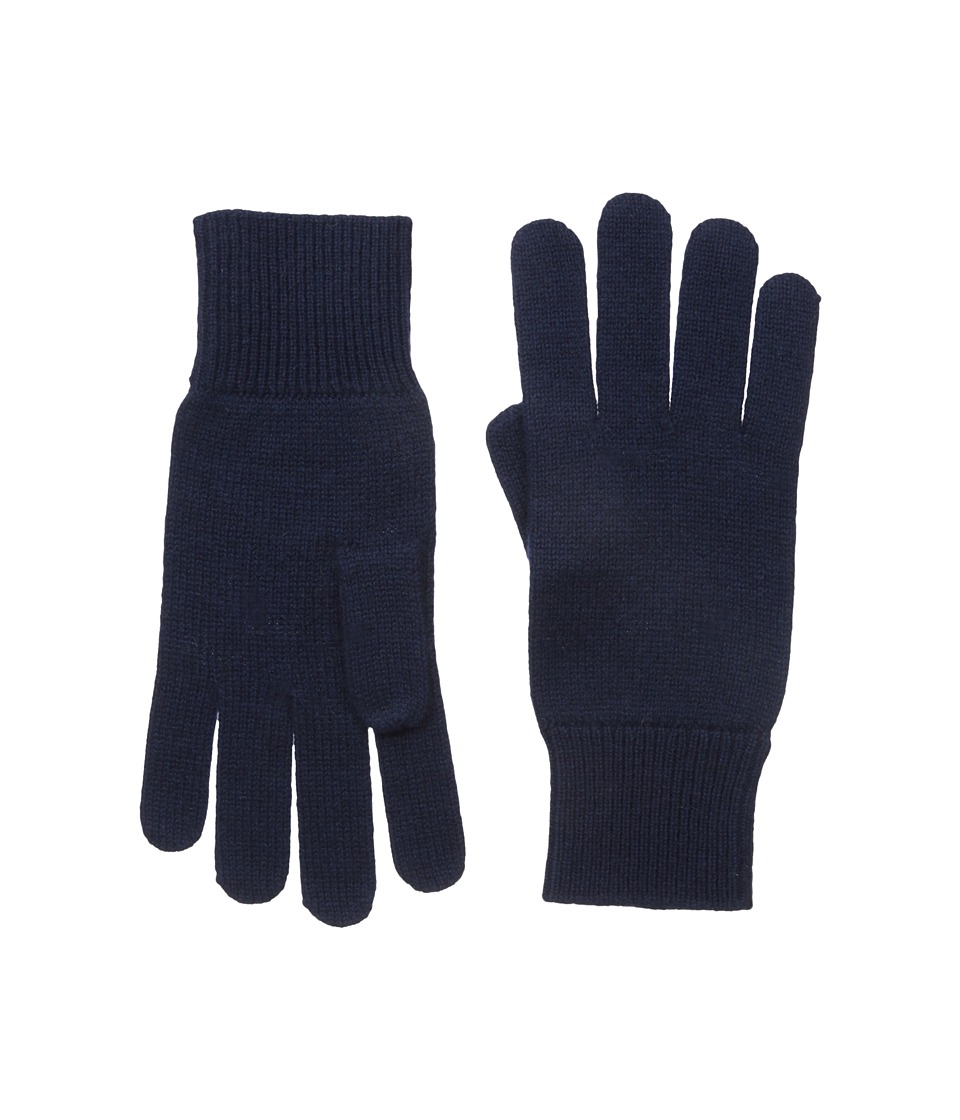 Lacoste Green Croc Cashmere Jersey Gloves (Navy Blue) Extreme Cold Weather Gloves