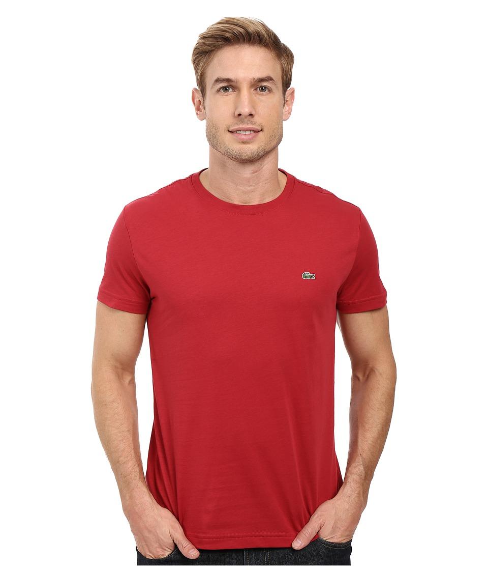 Lacoste - Short-Sleeve Pima Jersey Crewneck T-Shirt (Intense) Men