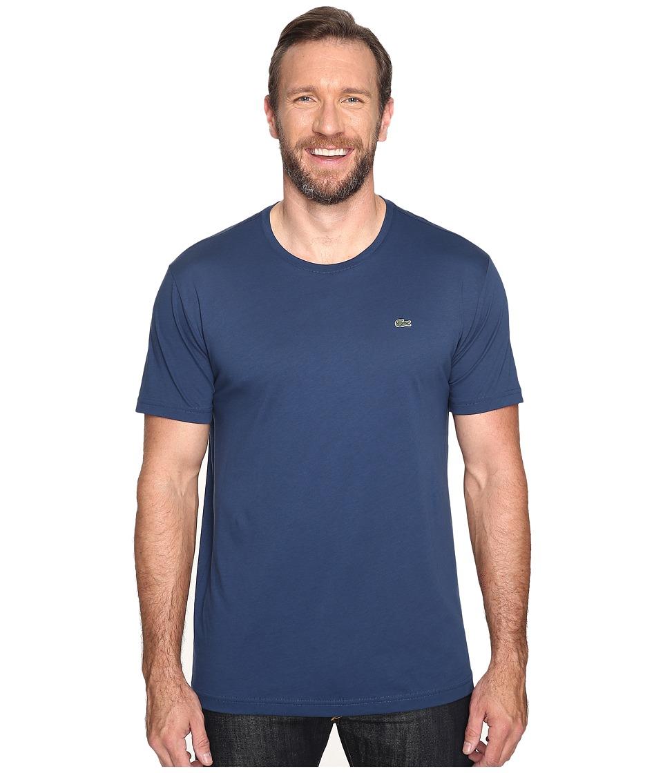 Lacoste Short-Sleeve Pima Jersey Crewneck T-Shirt (Philippines Blue) Men