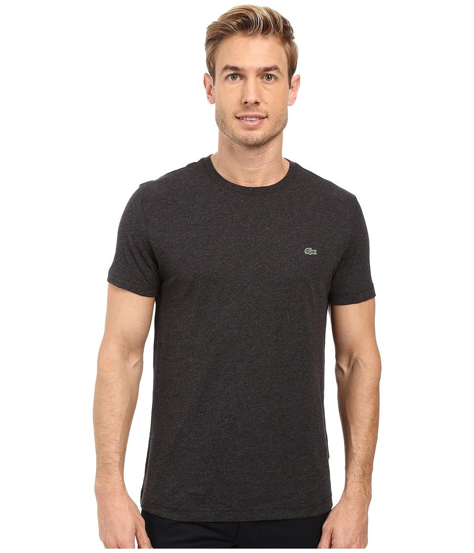 Lacoste - Short-Sleeve Pima Jersey Crewneck T-Shirt (Panther Black) Men