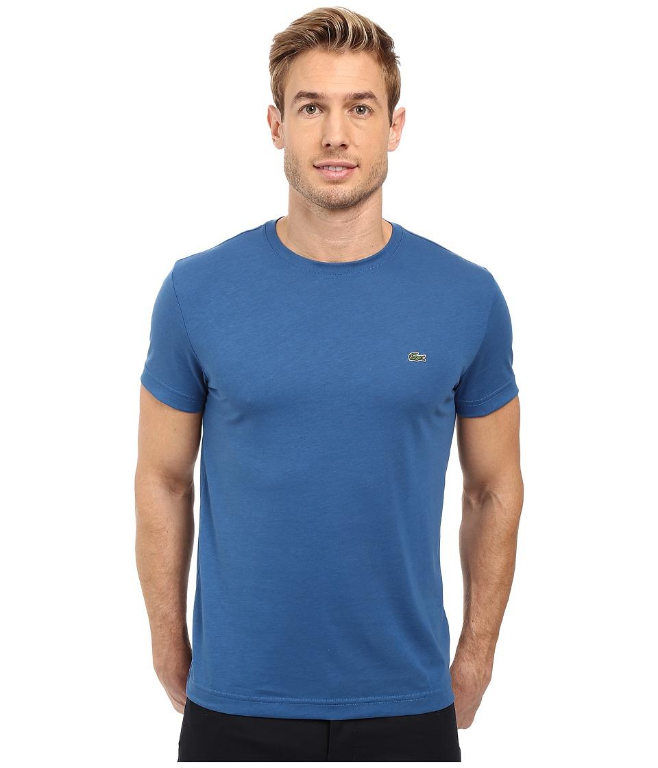 Lacoste - Short-Sleeve Pima Jersey Crewneck T-Shirt (Officer Blue) Men