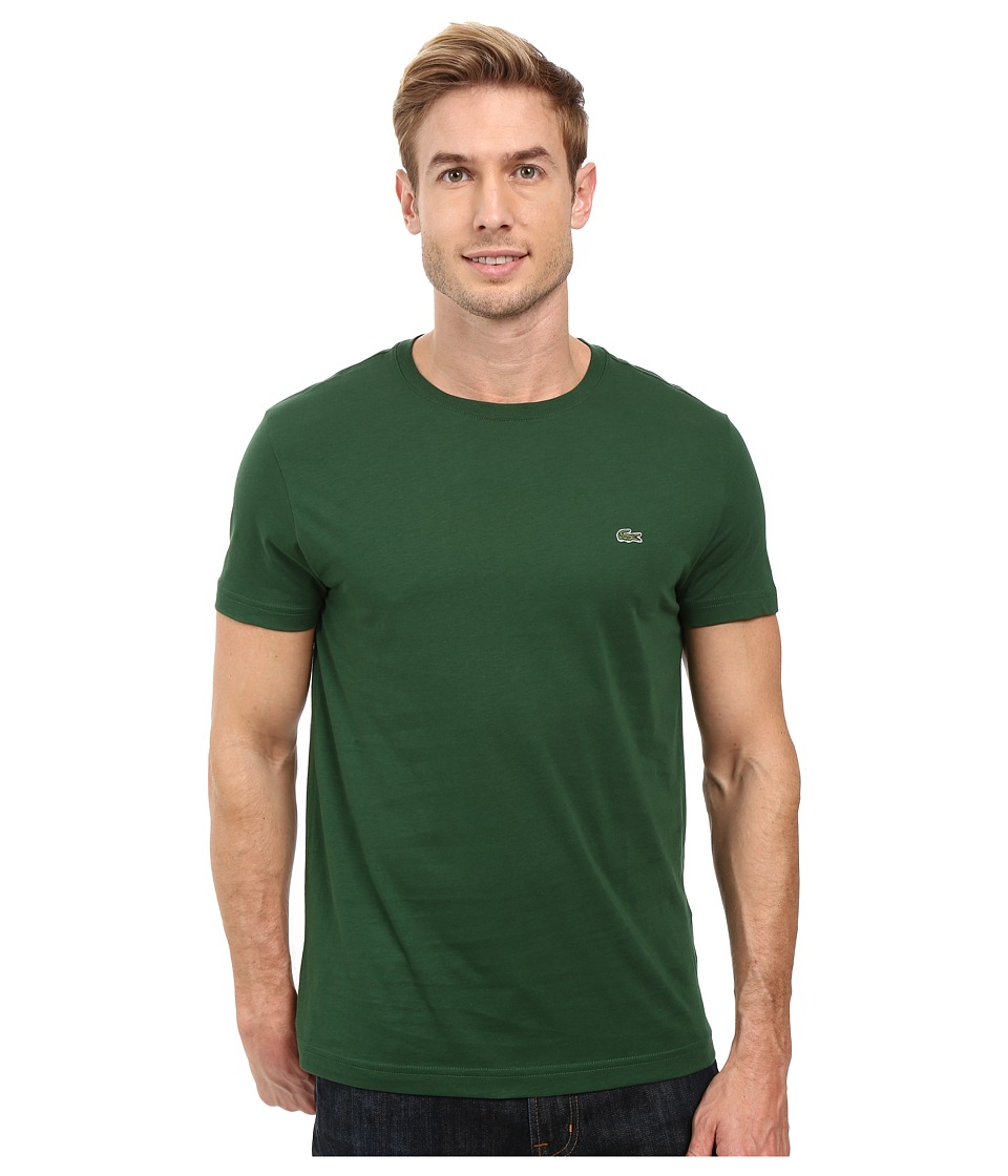 Lacoste - Short-Sleeve Pima Jersey Crewneck T-Shirt (Appalachan Green) Men
