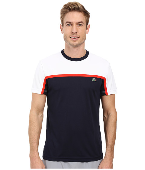 Lacoste Sport Short Sleeve Ultra Dry Color Block