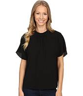 Vince Camuto - Short Sleeve Shirred Mock Neck Blouse