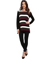 Vince Camuto - Long Sleeve Chalk Stripe Tunic