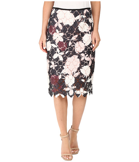 Vince Camuto Chapel Rose Printed Lace Pencil Skirt
