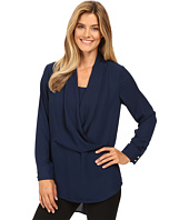 Vince Camuto - Long Sleeve Wrap-Front Tunic