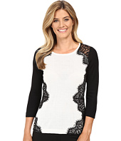 Vince Camuto - Long Sleeve Sweater with Side Lace Trim
