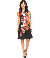 Maggy London - Hot House Flower Print Faille Fit & Flare Dress