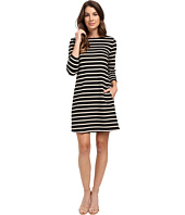 Lilla P - Heavy Stripe Jersey 3/4 Sleeve A-Line Dress