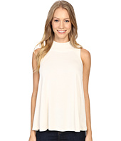 Lilla P - Liquid Terry Mock Neck Swing Top