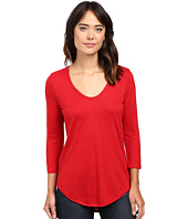 Lilla P - Pima Modal Slub 3/4 Sleeve Scoop Neck