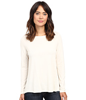 Lilla P - Pima Modal Long Sleeve Pleat Back Top