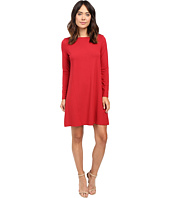 Lilla P - Stretch Jersey Long Sleeve Seamed Dress
