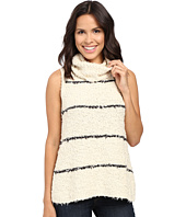 Lilla P - Fringe Yarn Sleeveless Turtleneck