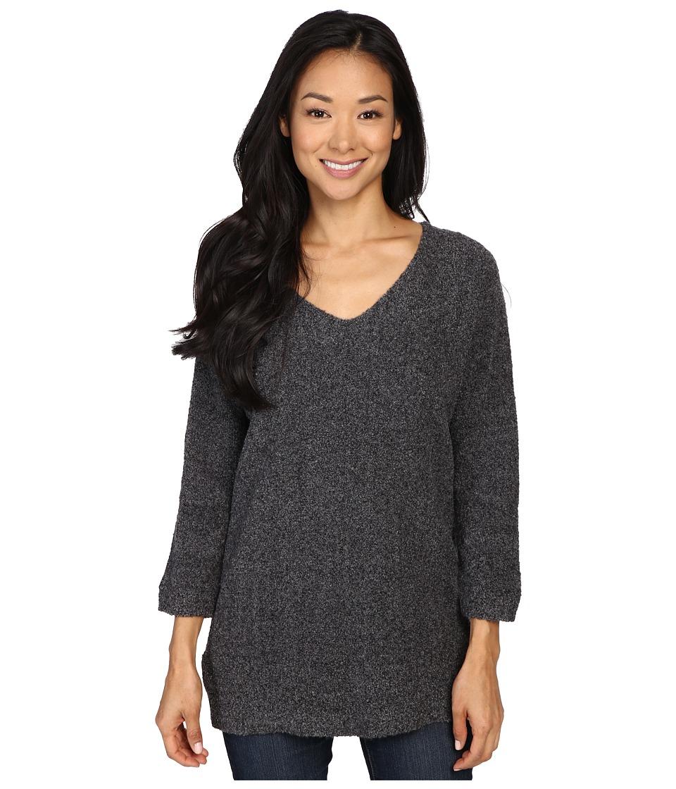 Lilla P Boucle V-Neck Tunic (Grey Boucle) Women's Blouse