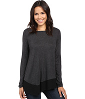 Lilla P - Warm Viscose Long Sleeve Asymmetrical Boat Neck