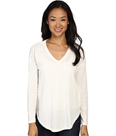Lilla P - Waffle Long Sleeve Dropped Shoulder V-Neck