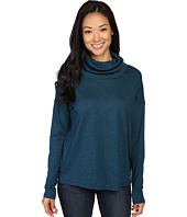 Lilla P - Pima Modal Slub Dropped Shoulder Cowl Neck